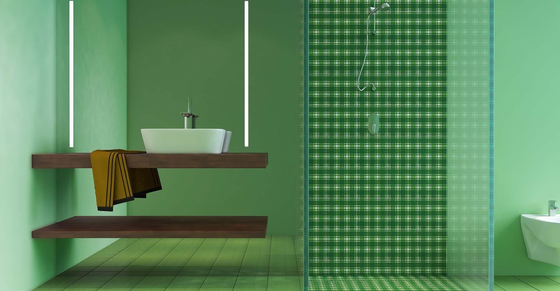 Rivestimento Bagno Mosaico Verde : Piastrelle bagno verde piastrella angolare angolari per