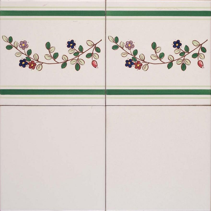 Bianco antico con bordura primavera r. 631