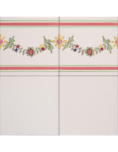 Bianco antico con bordura 7A e 675