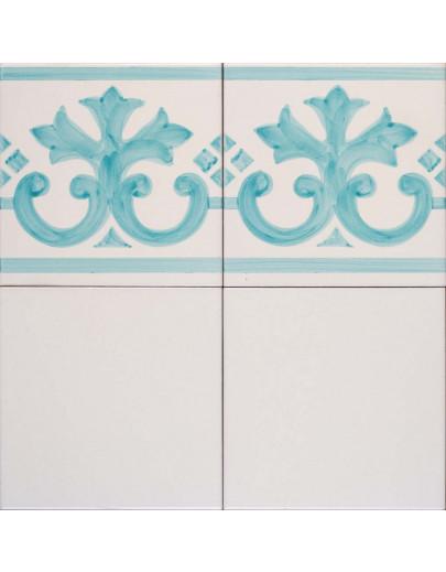 Bianco antico con bordura festone 398